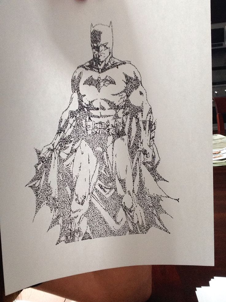 Batman stipple art