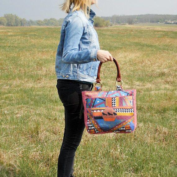 Everyday Hippie Bag / Shoulder Women Bag / Canvas Boho Handbag