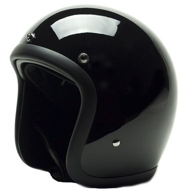 Deadbeat Customs -  Deadbeat Slim Open Face 3/4 Novelty Helmet - Gloss Black