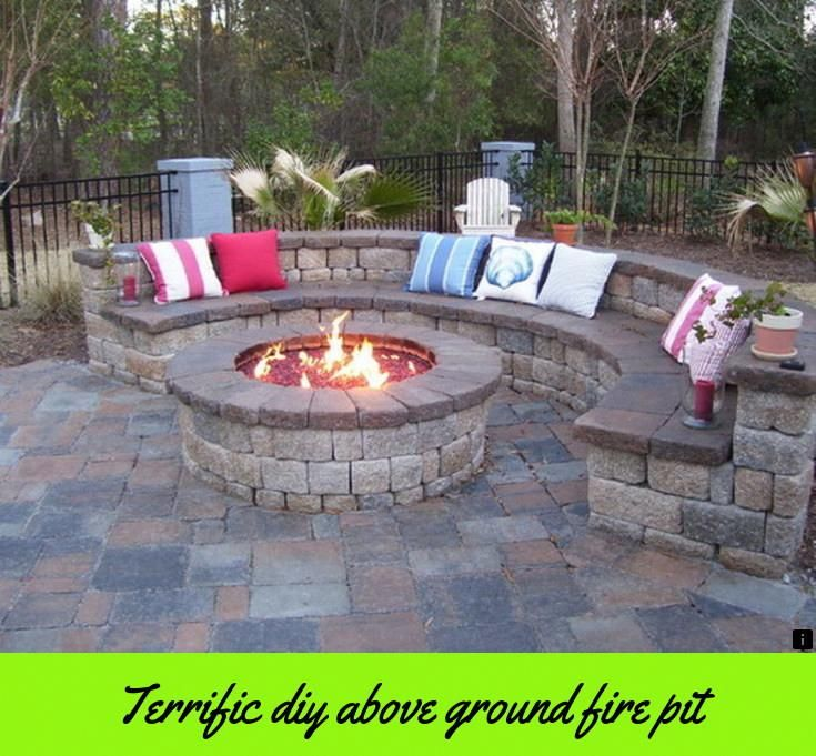 Backyard Patio Designs, Diy In Ground Fire Pit