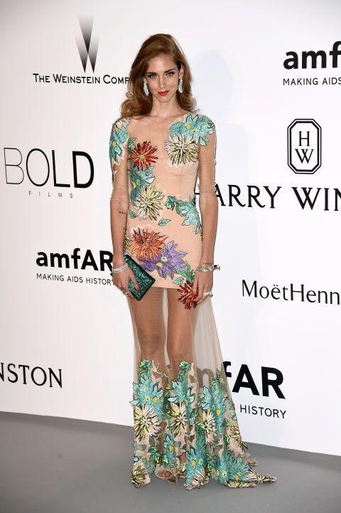 Chiara Ferragni. See what all the stars wore at the Cannes amfAR gala.