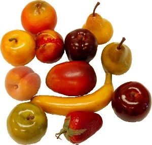 Fruits Assorted 12 Pack fake fruit