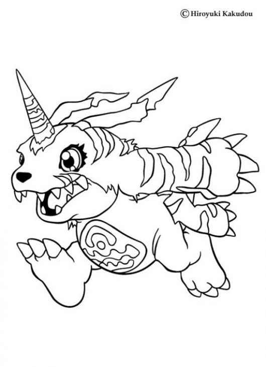 Gabumon From Free Digimon Season 1 Coloring Page