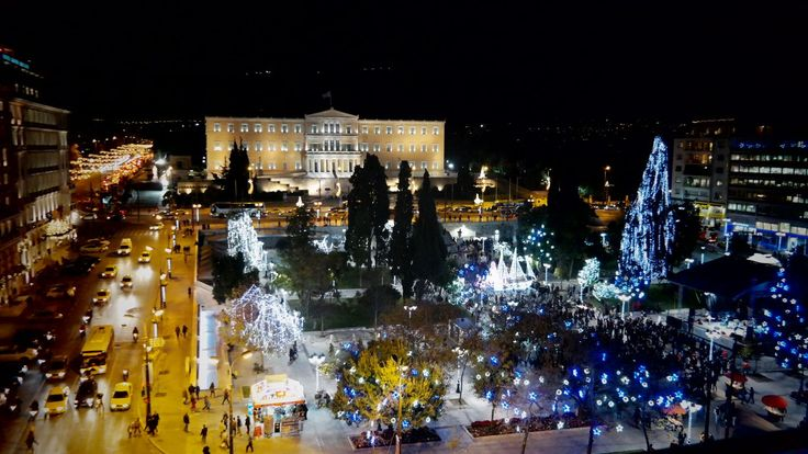 Illuminated #Athens #during #Christmas time