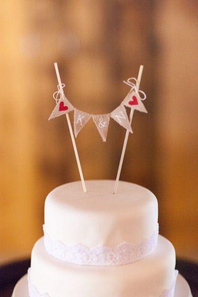 REVISTA HERA Guia para Novias: Cake Toppers: Banderines