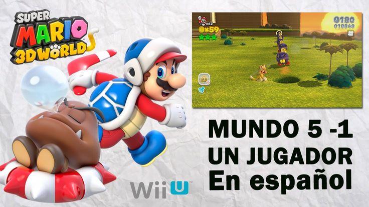 Super Mario 3D World Mundo 5 - 1 en español. Gameplay de Super Mario 3D World, Mundo 5, parte 1 en español. Visita mi sitio web: http://www.adverglitch.com