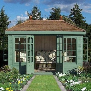 summerhouse can be double glazed and insulated.