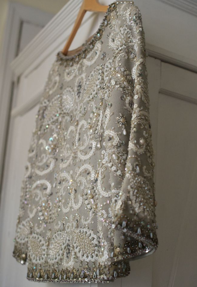 Beaded. Vintage. Capes.  Love this!