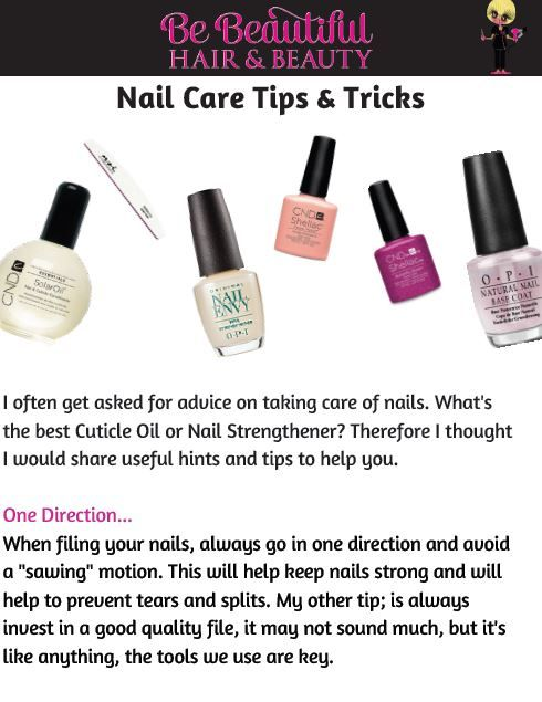 My Nail Care Tips & Tricks. You can download the full article here; http://bebeautifulhairandbeauty.co.uk/tips-tricks/
