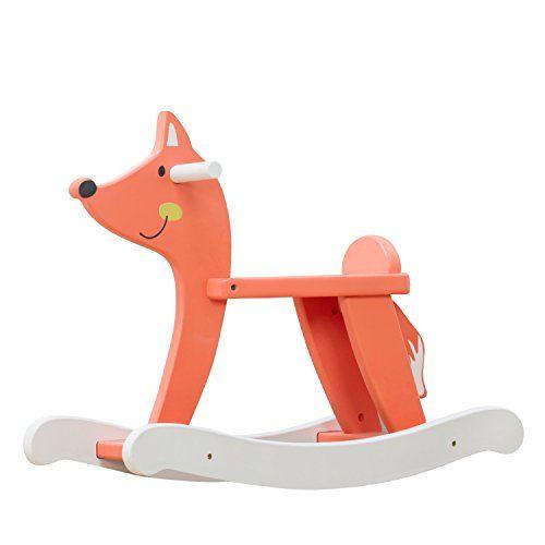 #vintagetoys #deals #toys Labebe Child Rocking Horse Wooden Rocking Horse Toy Orange Fox Rocking Horse for Kid 1-3 Years fox rocker/animal rocker/baby rocking horse set/kid rocking toy/kid ride animal/rocking horse toddler