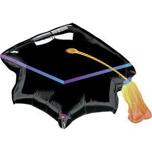 Black Graduation Cap Super Shape