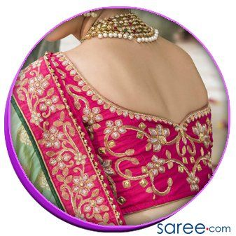 Image 6 - Back Sweetheart Neck with embroidery01 - Trendy Saree Blouse Back Designs - saree.com