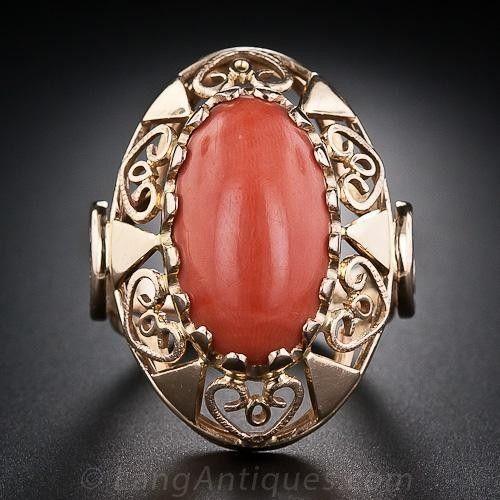 Vintage Coral prsten z Polska