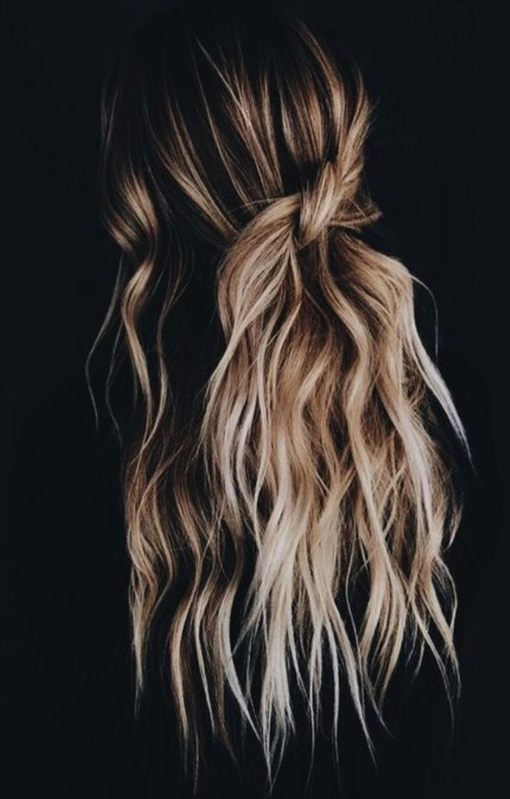 balayage twist + beachy waves