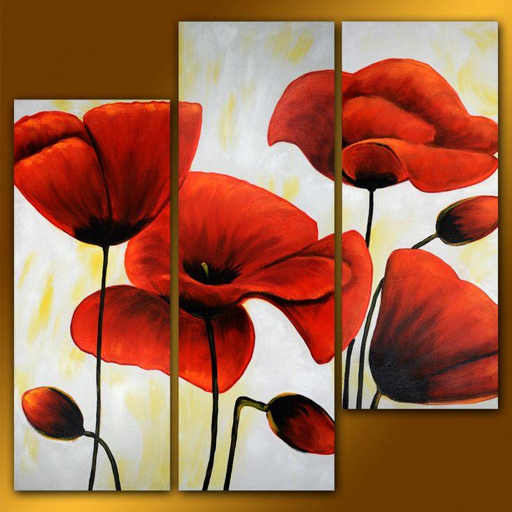 GFL3001 3-PCS Group Oil Painting