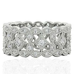 Marquise Design Anniversary Band With Round Diamonds by Beverly K.