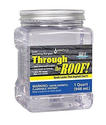 Sashco Through The Roof Sealant 1 Quart Container Clear