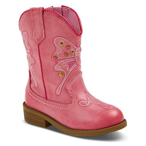 Toddler Girls Darcy Cowboy Boots Pink Shoes E Shoes