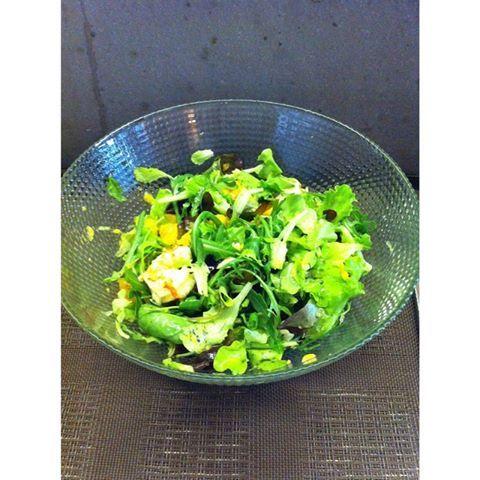 #insalata #gamberi #arance #mango Gnammmi