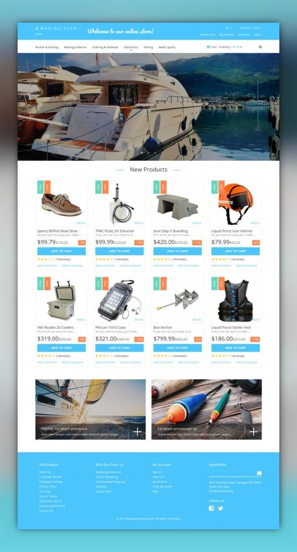 Yachting Responsive Magento Theme E-commerce Templates, Magento Themes, Sports, Outdoors & Travel, Sport Templates, More Sports, Yachting Templates