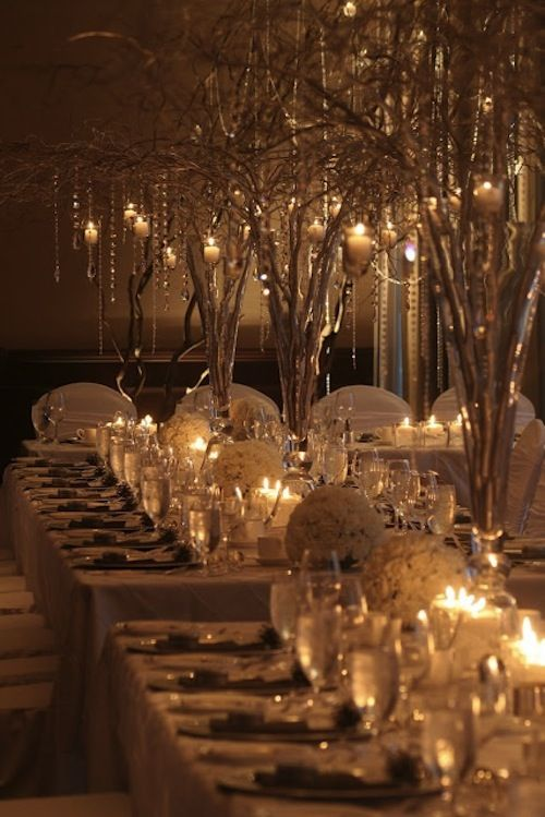 "My wedding prob won't be in the winter so ""winter wonderland"" won't really apply but I think this would be cute with regular green trees anyway:"