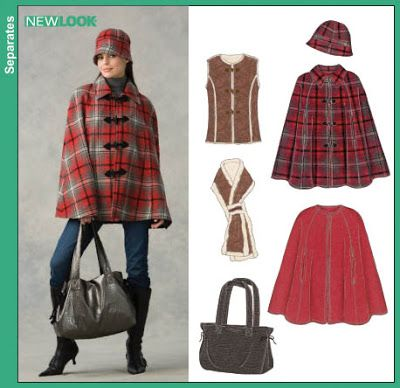 Cape in red plaid