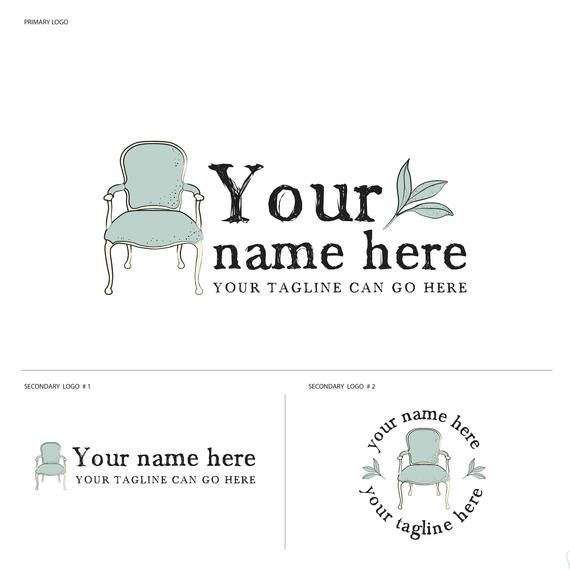 Craft Logo Furniture Logo Chair Logo Paint Shop Logo Design