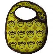 Babero reversible recién nacido Close parents Monkey
