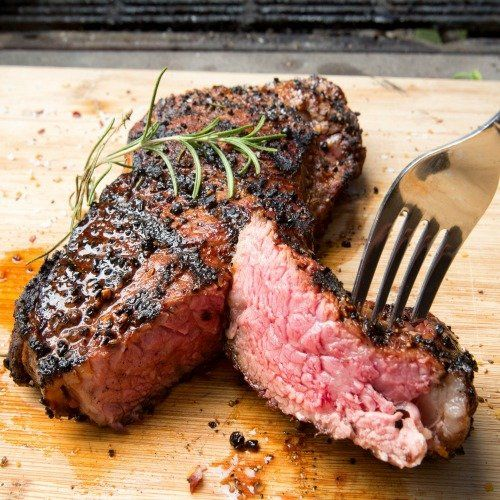 The secret to a perfectly cooked steak is a really hot pan and making sure the meat is at room temperature.  The recipe below will show you how to make a restaurant quality steak at home. 12-oz. NY…