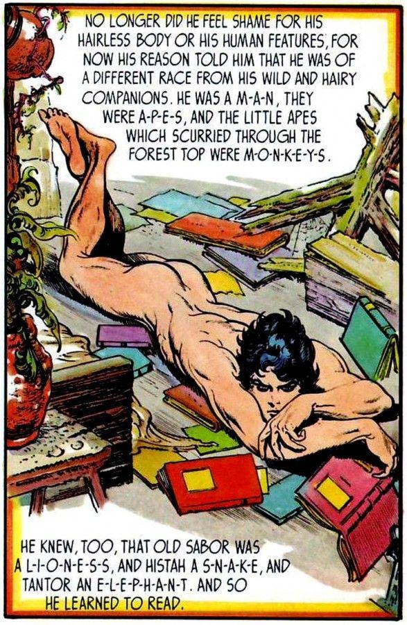 tarzan kreslený porno komiks