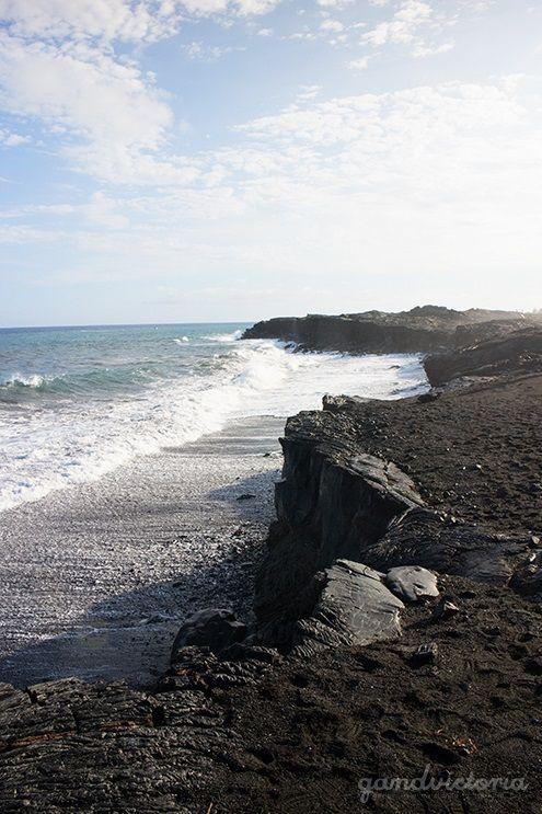 Kalapana and Kaimu Black Sand Beach Park, Hawaii. | qandvictoria.wordpress.com