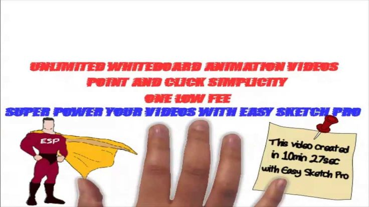 Easy Sketch Pro not only creates engaging whiteboard animation videos, it does it very quickly. Spend a little time in advance 'storyboarding' your idea and it can take literally minutes to realise it with easy Sketch Pro.