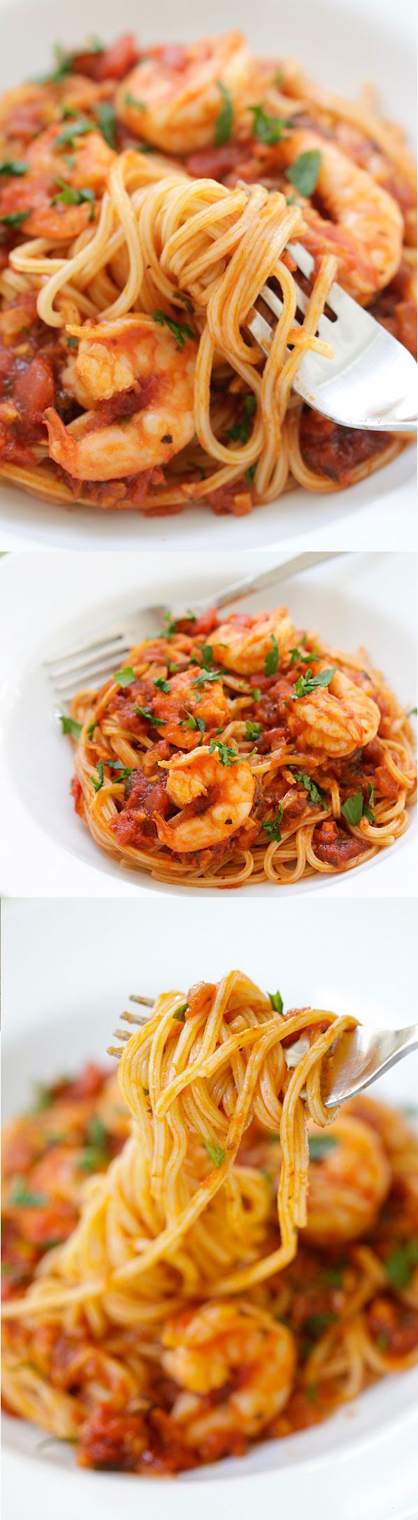 Shrimp Spaghetti – the easiest and most delicious shrimp spaghetti that even the pickiest eater likes, quick, easy and takes 20 mins | rasamalaysia.com