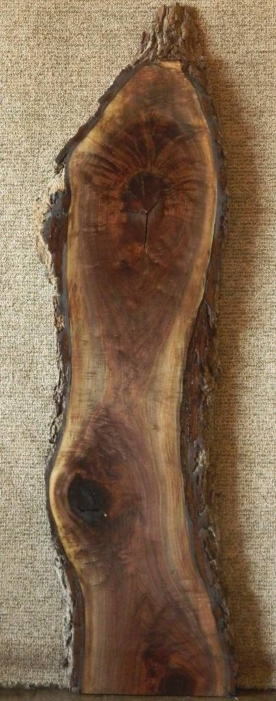 Black Walnut Lumber Slab Highly Figured Mantel Craftwood 1080   Walnut Natural Edged Slabs  , The Lumber Shack