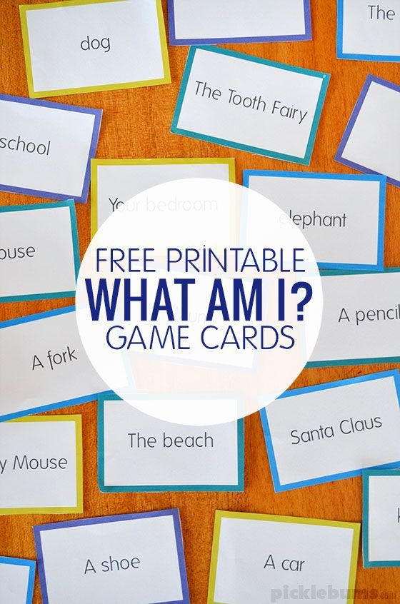 What Am I? Game - a quick and easy family game with a free printable to get you started
