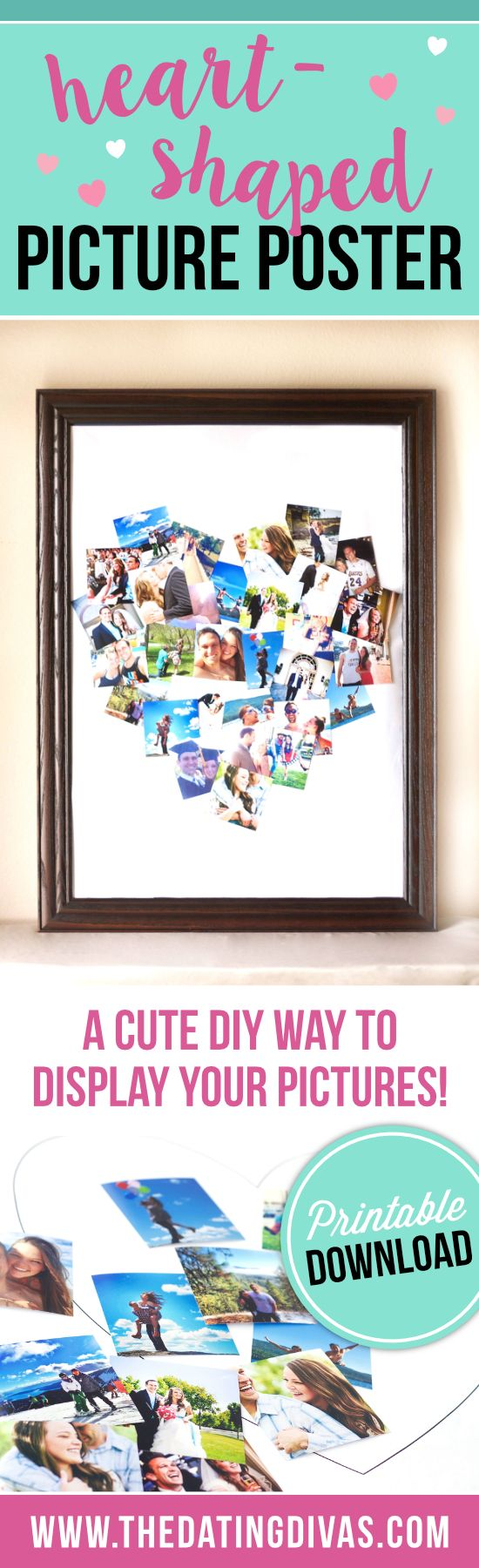 Heartshaped Picture Poster