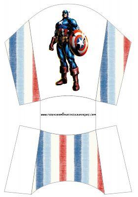 Cajitas imprimibles del Capitán América