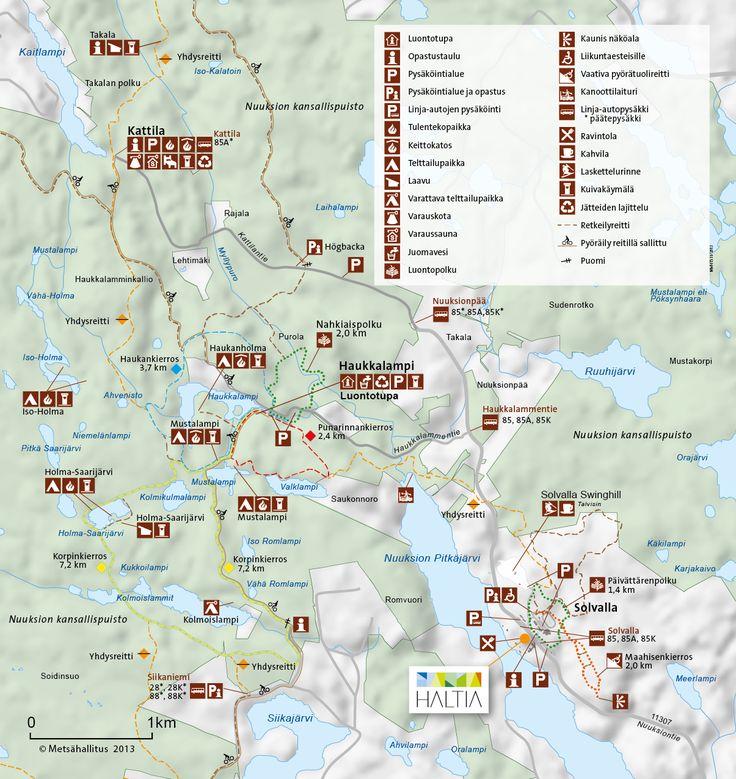 Hiking in Nuuksio National Park Finland