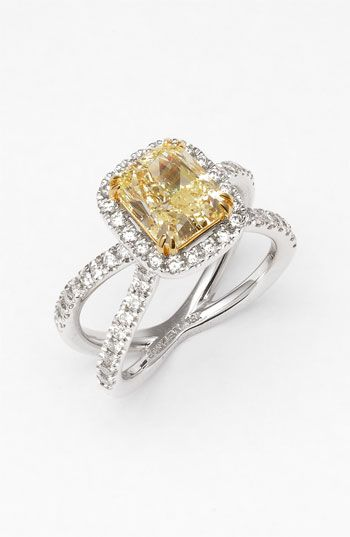 Bony Levy Fancy Yellow Diamond Ring (Nordstrom Exclusive) available at #Nordstrom.....im in love