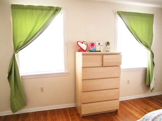 DIY: Curtain holdback  Way better than spending tons of money on those not-kid-friendly hooks!
