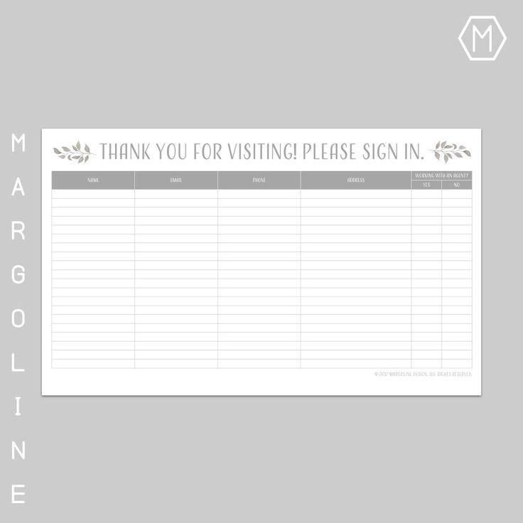 25+ ideias exclusivas de Sign in sheet template no Pinterest - sample open house sign in sheet template