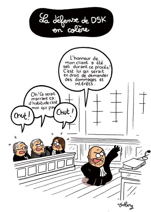 La défense de DSK en colère