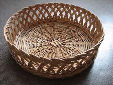 Round Natural Wicker Trays Handmade