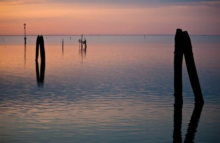 Sunset in the lagoon Photo by Andrea Gattini -- National Geographic Your Shot