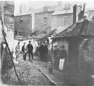 Court Number 1, Thomas Street, Birmingham, 1871: What I like about this photograph is that if you concentrated only on the houses in the background then this could easily be a modern photo. I used to live in a house that looked a little like one of those houses, and anyone travelling to London on the train that passes through Surbiton and Clapham will see scores of homes just like these. Yet, if you cast your eyes down the photo to the cobbled streets, makeshift laundry lines, rickety…