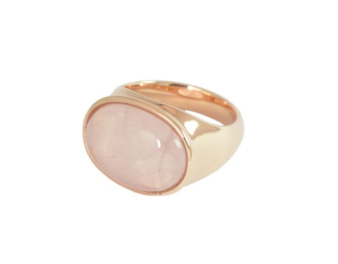 Pillow Talk. Pretty in pink: 18k rose gold matched with rose quartz.  Bold but very comfortable, a perfect 'every day' ring.