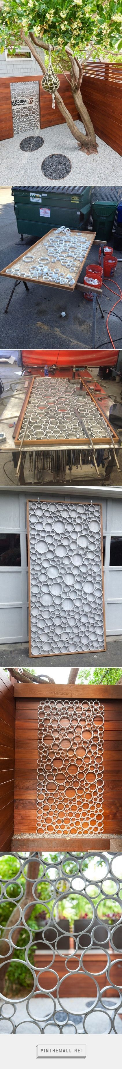 A Designer Uses PVC Pipe to Cast a Modern Garden Gate - created via http://pinthemall.net