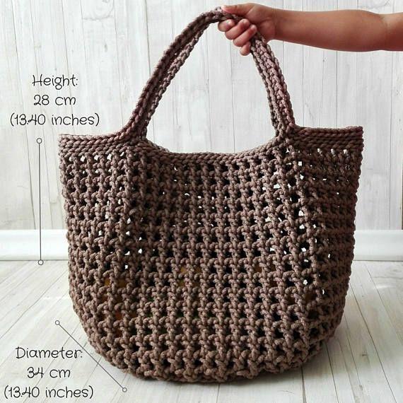 Tote bag, Shopping bag, Grocery bag, Market bag, Large bag, Beach bag, Modern bag, Rope bag, Stylish shopping bag, Eco friendly bag – 윤자 곽