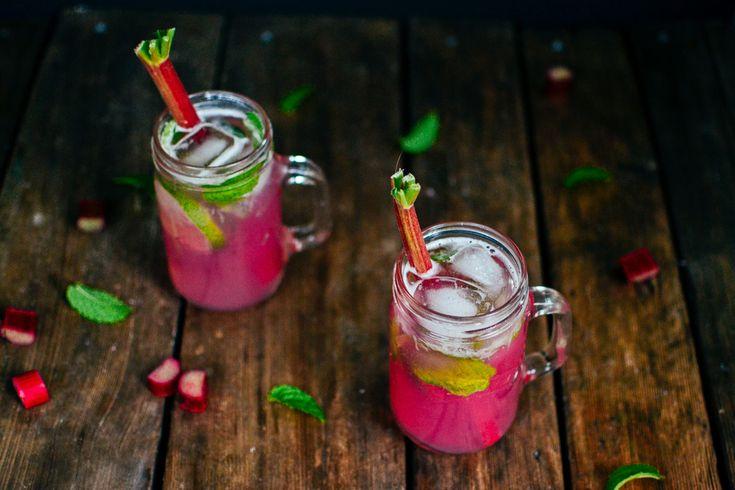 rhubarb mojitos (& rhubarb juice!)