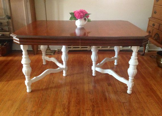 SALE!! Shabby Chic Table, Two Tone Table  $479 plus $600 shipping